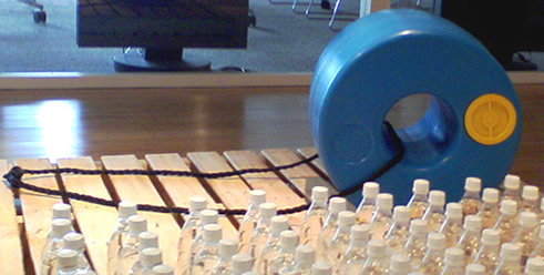展示品ドーナツ型タンク